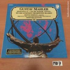 Discos de vinilo: GUSTAV MAHLER. Lote 194171705