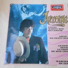 Discos de vinilo: ANTOINE, EP, TITINE ACHETE MOI UN CAMION + 3, AÑO 1967, MADE IN FRANCE. Lote 194176482