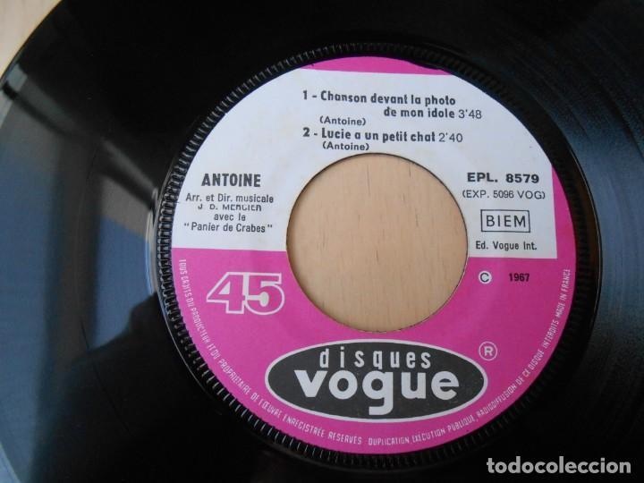 Discos de vinilo: ANTOINE, EP, TITINE ACHETE MOI UN CAMION + 3, AÑO 1967, MADE IN FRANCE - Foto 4 - 194176482