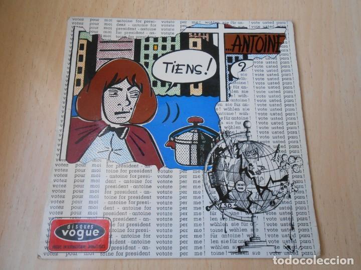 Discos de vinilo: ANTOINE, EP, VOTEZ POUR MOI + 3, AÑO 1966, MADE IN FRANCE - Foto 2 - 194176702