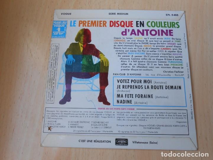 Discos de vinilo: ANTOINE, EP, VOTEZ POUR MOI + 3, AÑO 1966, MADE IN FRANCE - Foto 3 - 194176702