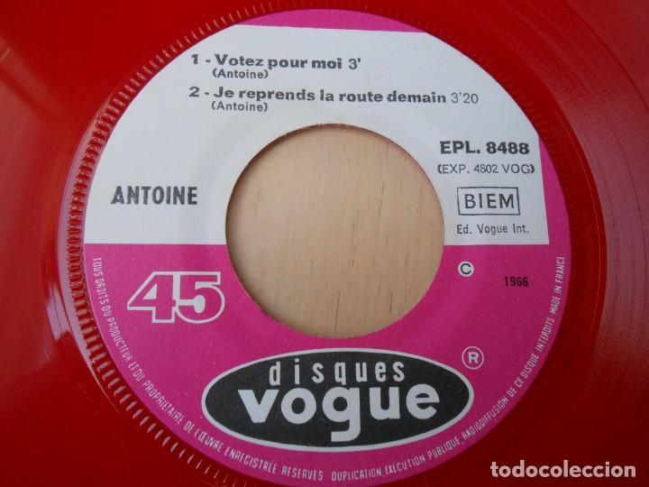 Discos de vinilo: ANTOINE, EP, VOTEZ POUR MOI + 3, AÑO 1966, MADE IN FRANCE - Foto 4 - 194176702