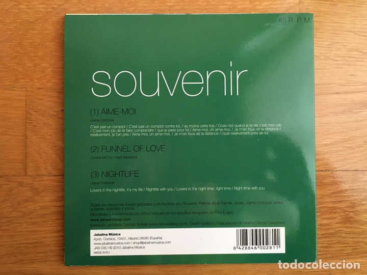 "Discos de vinilo: SOUVENIR: AIMÉ-MOI / FUNNEL OF LOVE / NIGHTLIFE (SINGLES COLLECTION 7"" / 45 R.P.M. / VOL. III / 2010 - Foto 2 - 194176807"