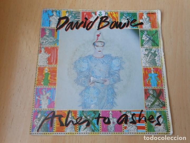 DAVID BOWIE, SG, ASHES TO ASHES + 1, AÑO 1980, MADE IN FRANCE (Música - Discos de Vinilo - Singles - Pop - Rock Extranjero de los 80)