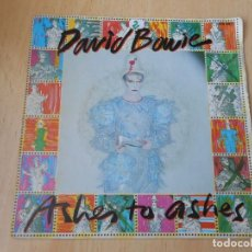 Discos de vinilo: DAVID BOWIE, SG, ASHES TO ASHES + 1, AÑO 1980, MADE IN FRANCE. Lote 194177060