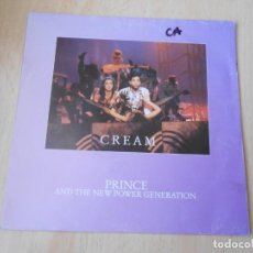Discos de vinilo: PRINCE AND THE NEW POWER GENERATION, SG, CREAM + 1, AÑO 1991, MADE IN FRANCE. Lote 194177828
