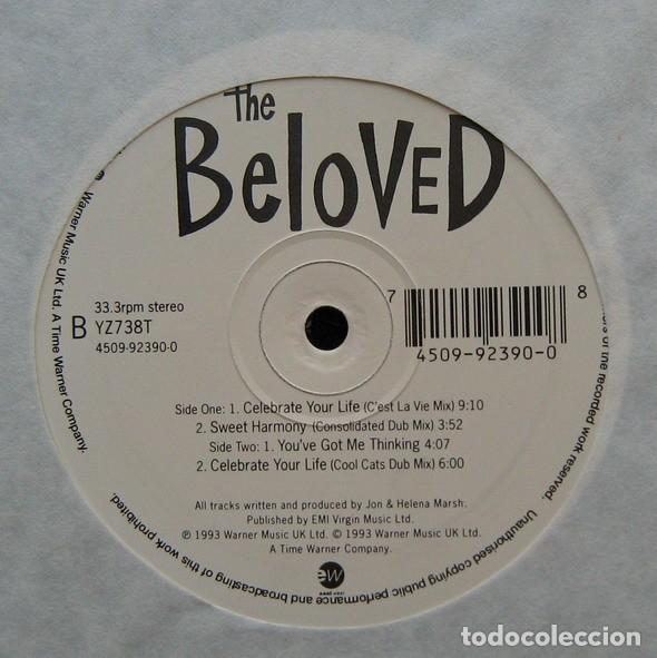 Discos de vinilo: THE BELOVED – CELEBRATE YOUR LIFE / YOUVE GOT ME THINKING - MAXI-SINGLE UK 1993 - Foto 2 - 194183460