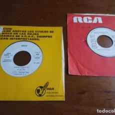 Discos de vinilo: MICKY- LOTE DOS SINGLES PROMOCIONALES- RARO!!. Lote 194184466