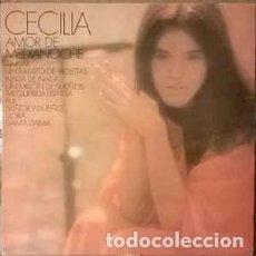 Discos de vinilo: CECILIA - AMOR DE MEDIANOCHE - LP CBS 1982 REEDICION. Lote 194186061
