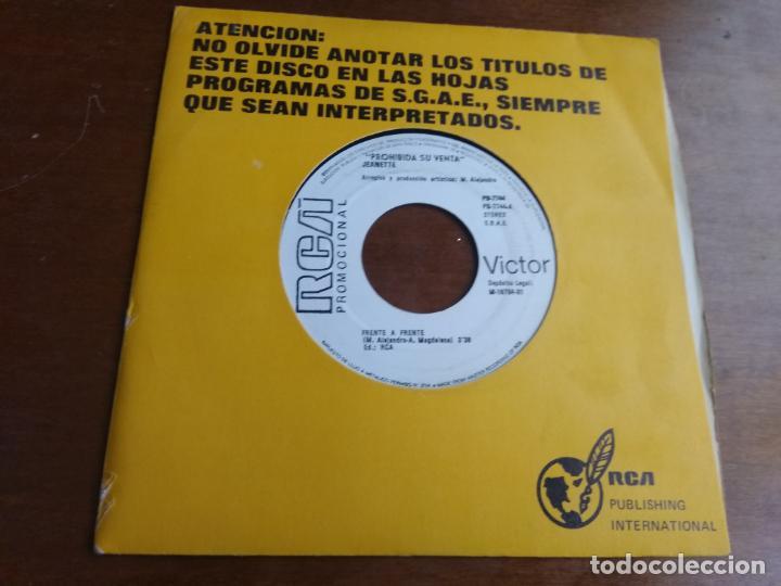 JEANETTE - FRENTE A FRENTE / CUANDO ESTOY CON EL/ - SINGLE PROMOCIONAL RARO!! (Música - Discos - Singles Vinilo - Grupos Españoles de los 70 y 80)