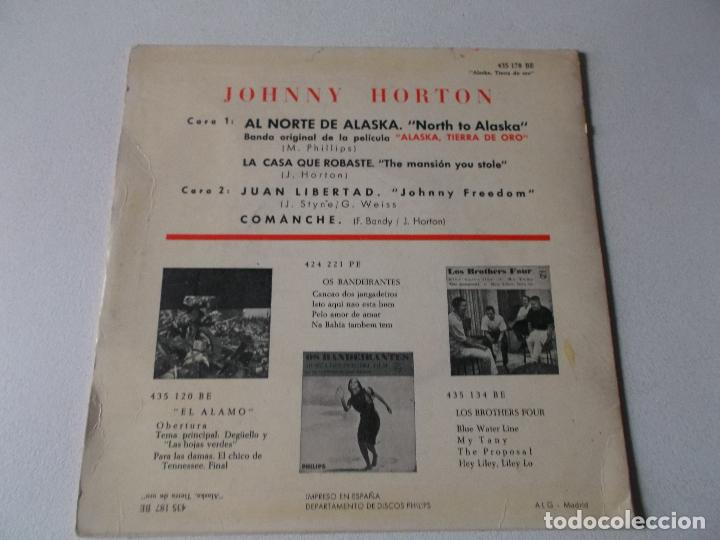 Discos de vinilo: JOHNNY HORTON-EP BSO ALASKA TIERRA DE ORO-4 TEMAS-1961 - Foto 2 - 194186921