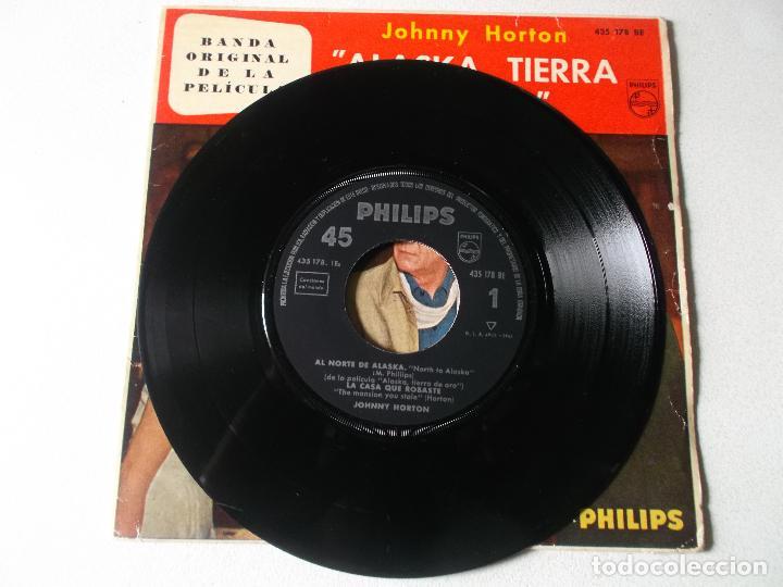 Discos de vinilo: JOHNNY HORTON-EP BSO ALASKA TIERRA DE ORO-4 TEMAS-1961 - Foto 5 - 194186921