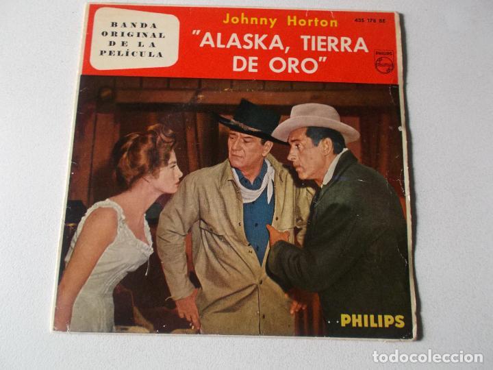 JOHNNY HORTON-EP BSO ALASKA TIERRA DE ORO-4 TEMAS-1961 (Música - Discos de Vinilo - EPs - Bandas Sonoras y Actores)