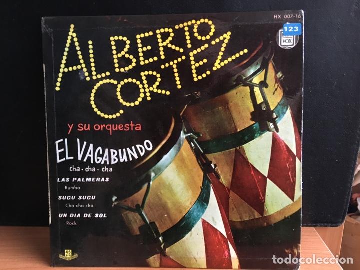 ALBERTO CORTEZ Y SU ORQUESTA - EL VAGABUNDO / LAS PALMERAS / SUCU SUCU / UN DIA DE SOL (D:NM/C:VG+) (Música - Discos - Singles Vinilo - Grupos y Solistas de latinoamérica)