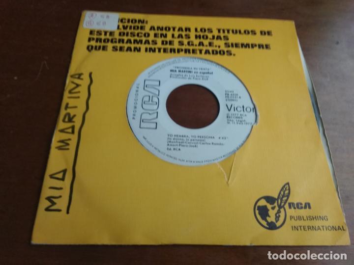 MIA MARTINI EN ESPAÑOL /LIBRE / YO HEMBRA, YO PERSONA/ SINGLE 1977 ESPAÑA PROMOCIONAL (Música - Discos - Singles Vinilo - Canción Francesa e Italiana)