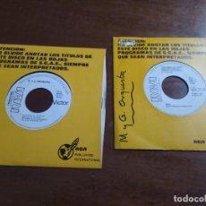 Discos de vinilo: LOTE DOS SINGLES-OLIVER ONIONS / M & G ORCHESTRA* –ORZOWEI -M & G ORCHESTRA-BSO 40 DIAS DE LIBERTAD. Lote 194190922