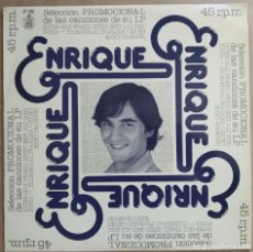 Discos de vinilo: ENRIQUE DEL POZO - MUY PRONTO HAY QUE TRIUNFAR - MAXI-SINGLE PROMO HISPAVOX 1977. Lote 194195567