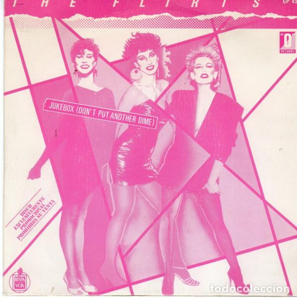 THE FLIRT -. JUKEBOX (DON'T PUT ANOTHER DIME). - SINGLE PROMO SPAIN 1982 (Música - Discos de Vinilo - Singles - Pop - Rock Extranjero de los 80)
