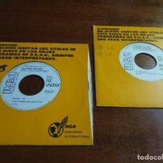 Discos de vinilo: LAS GEMELAS FANTASTICAS -LOTE DOS SINGLES PROMOCIONALES. Lote 194197080