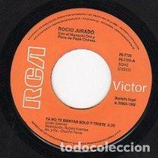 Discos de vinilo: ROCIO JURADO - YA NO TE SIENTAS SOLO Y TRISTE / GUITARRA POEMA - SINGLE SPAIN 1980 (SOLO DISCO). Lote 194204243