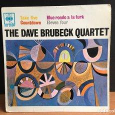 Discos de vinilo: DAVE BRUBECK QUARTET - TAKE FIVE (EP) (D:VG+/C:VG+). Lote 194204707
