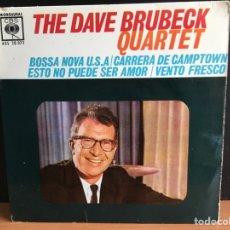Discos de vinilo: DAVE BRUBECK QUARTET - BOSSA NOVA U.S.A. (EP, MONO) (D:VG+/C:VG+). Lote 194204728