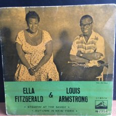 Discos de vinilo: ELLA FITZGERALD AND LOUIS ARMSTRONG - STOMPIN' AT THE SAVOY / AUTUMN IN NEW YORK (D:VG+/C:VG). Lote 194205476