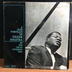 Discos de vinilo: OSCAR PETERSON TRIO - A JAZZ PORTRAIT OF FRANK SINATRA (EP, MONO). Lote 194205603