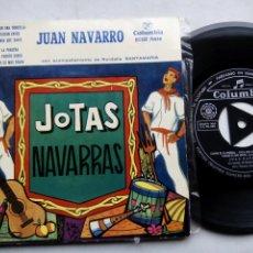 Discos de vinilo: JUAN NAVARRO CON RONDALLA SANTAMARÍA. JOTAS NAVARRAS. EP COLUMBIA ECGE 71038. ESPAÑA 1959.. Lote 194208448