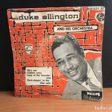 Discos de vinilo: DUKE ELLINGTON AND HIS ORCHESTRA - HY'A SUE (EP). Lote 194208525