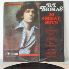 Discos de vinilo: DIFICIL! B.J THOMAS. 20 GREATS HITS. MOVIE PLAY. 1983. Lote 194209058