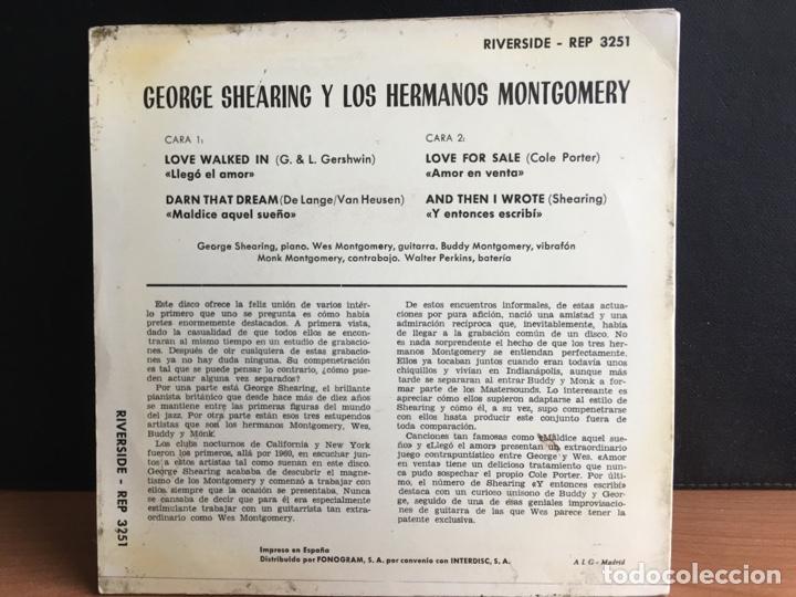 Discos de vinilo: George Shearing Y Los Hermanos Montgomery (EP, Mono) - Foto 2 - 194209205
