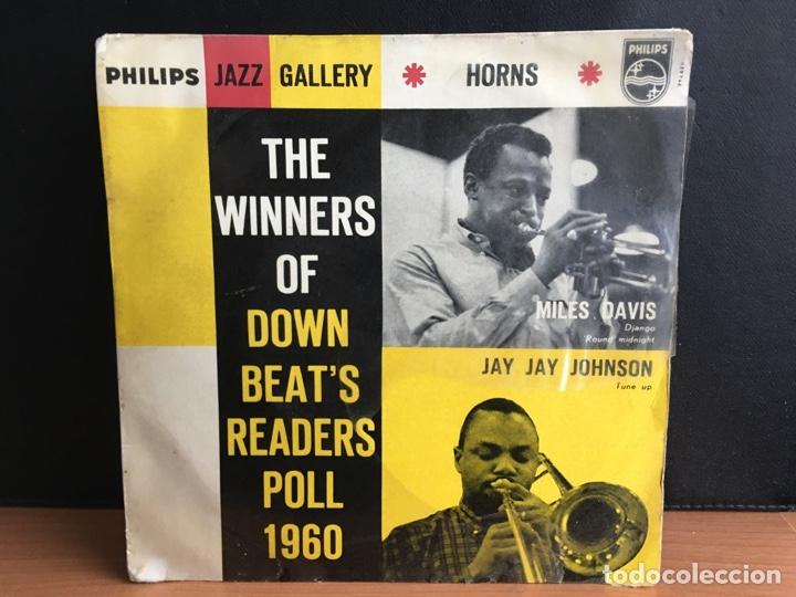 MILES DAVIS / JAY JAY JOHNSON - THE WINNERS OF DOWN BEAT'S READERS POLL 1960 HORNS (EP MONO) (Música - Discos de Vinilo - EPs - Jazz, Jazz-Rock, Blues y R&B)