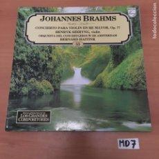 Discos de vinilo: JOHANNES BRAHMS. Lote 194214358