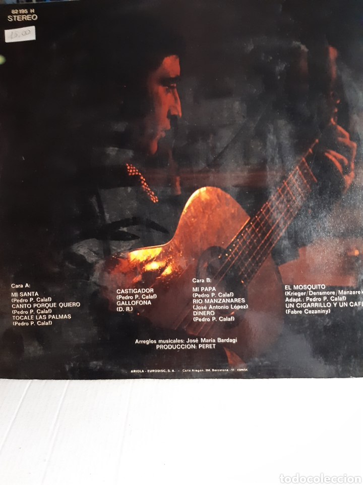 Discos de vinilo: Peret- Mi Santa,Canto por que quiero - Foto 2 - 194215067