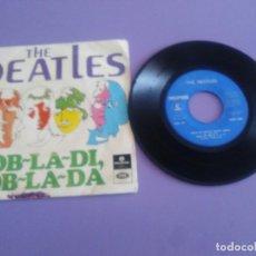 Discos de vinilo: MUY RARO EP. THE BEATLES~OB~LA~DI, OB~LA~DA + 3~ SELLO PARLOPHONE LMEP 1350. EDITADO EN PORTUGAL. Lote 194217360