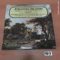 Discos de vinilo: JOHANNES BRAHMS. Lote 194219440