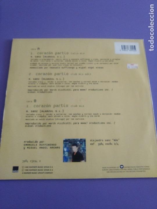 Discos de vinilo: GENIAL MAXI. ALEJANDRO SANZ - CORAZÓN PARTIO - REMEZCLAS. MADE IN GERMANY .WARNER MUSIC 3984 23094 - Foto 7 - 194219645