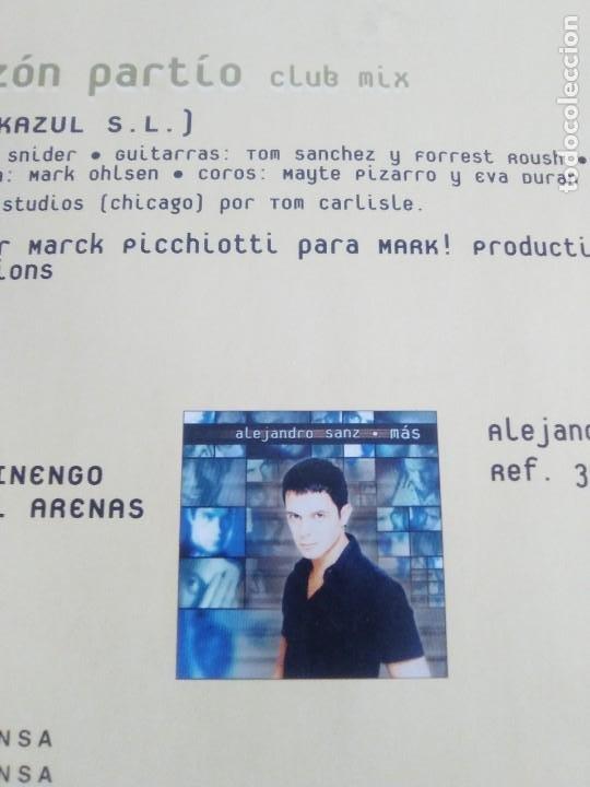 Discos de vinilo: GENIAL MAXI. ALEJANDRO SANZ - CORAZÓN PARTIO - REMEZCLAS. MADE IN GERMANY .WARNER MUSIC 3984 23094 - Foto 11 - 194219645