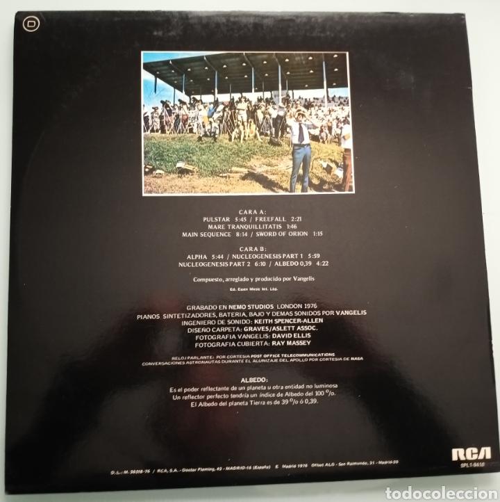 Discos de vinilo: Vangelis - Albedo 0.39 - vinilo - Foto 2 - 194220468