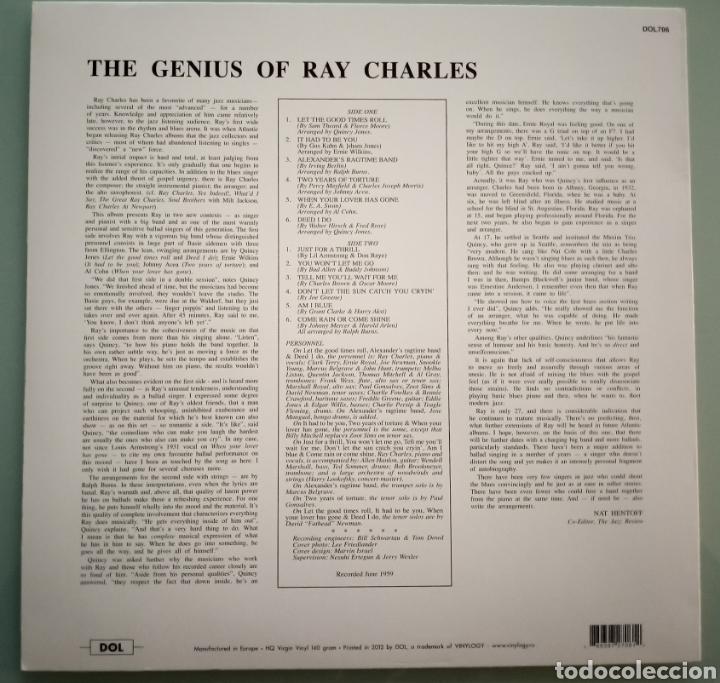 Discos de vinilo: The Genious of Ray Charles - vinilo - Foto 2 - 194225130
