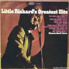Discos de vinilo: LITTLE RICHARD - GREATEST HITS RECORDED LIVE LP EPIC 1967. Lote 194225692