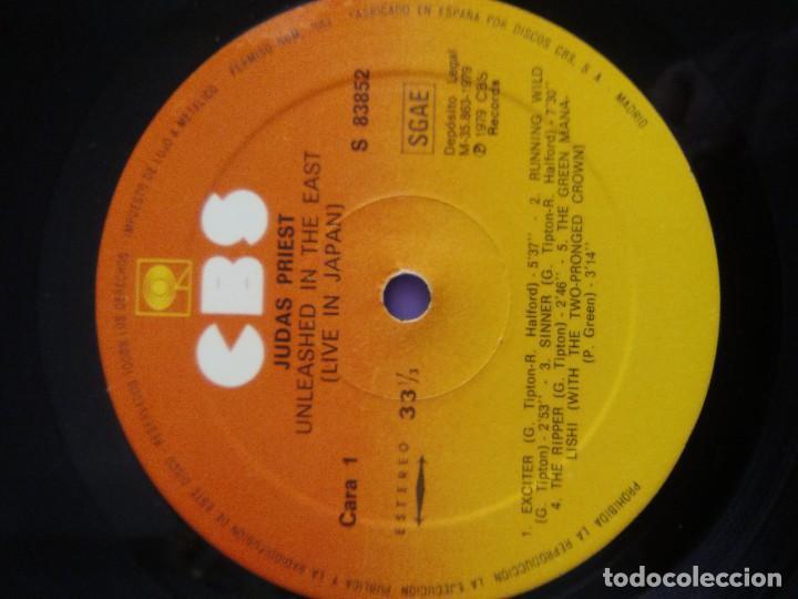 Discos de vinilo: JOYA GENIAL LP.JUDAS PRIEST - UNLEASHED IN THE EAST (LIVE IN JAPAN).AÑO 1979 SPAIN. SELLO CBS 83852 - Foto 12 - 194226035