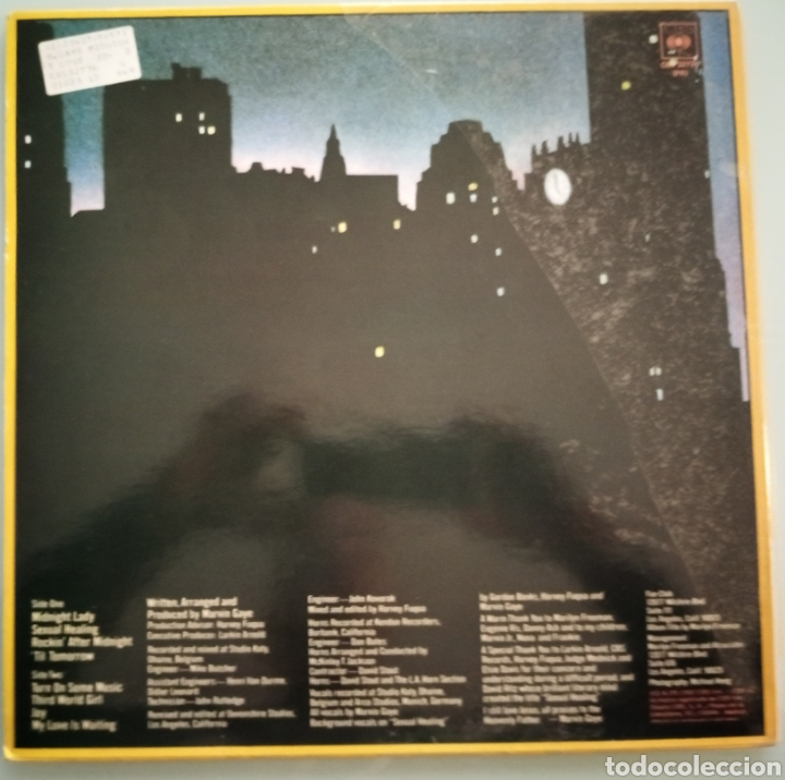 Discos de vinilo: Marvin Gaye - Midnight Love - vinilo - Foto 2 - 194226170