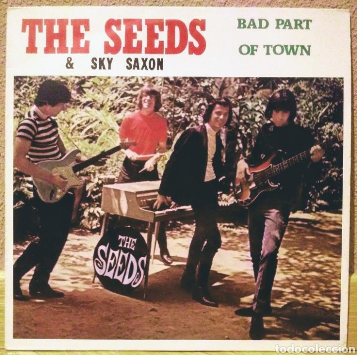THE SEEDS & SKY SAXON - BAD PART OF TOWN LP EVA 1982 (Música - Discos - LP Vinilo - Pop - Rock Extranjero de los 50 y 60)
