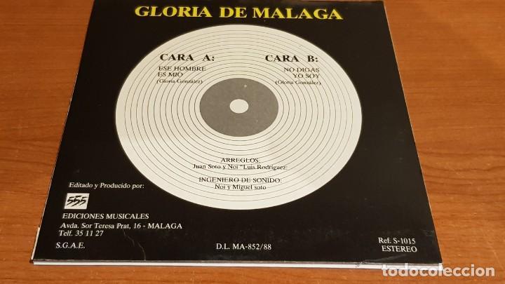 Discos de vinilo: FIRMADO !! GLORIA DE MÁLAGA / SINGLE - 555 EDIC. MUSIC - 1988 / VINILO DE LUJO. ****/**** - Foto 3 - 194227138