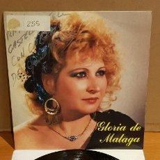 Discos de vinilo: FIRMADO !! GLORIA DE MÁLAGA / SINGLE - 555 EDIC. MUSIC - 1988 / VINILO DE LUJO. ****/****. Lote 194227138