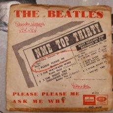 Discos de vinilo: THE BEATLES PLEASE PLEASE ME ASK ME WHY ODEON EMI 66041 PRIMER SINGLE EDITADO EN ESPAÑA. Lote 194228006