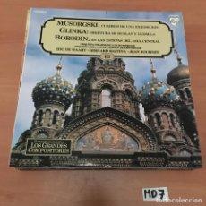 Discos de vinilo: MUSORGSKI GLINKA BORODIN. Lote 194228538