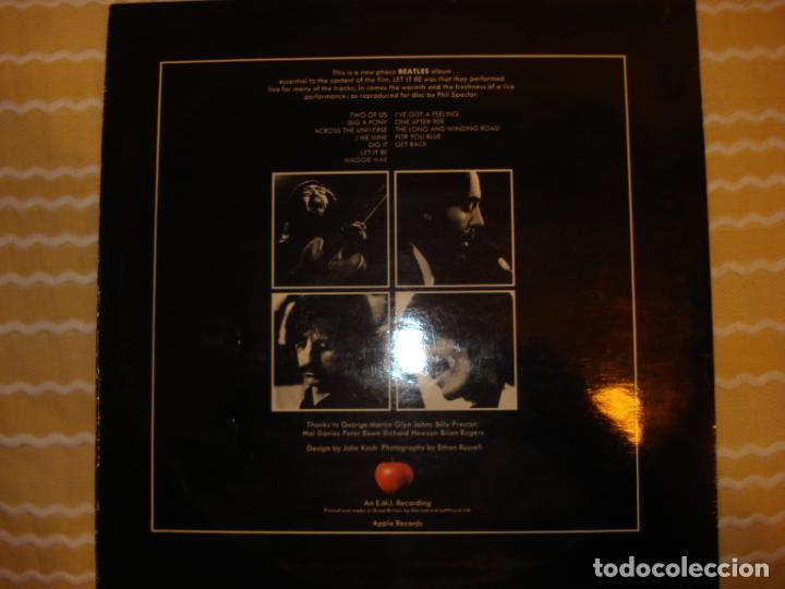 Discos de vinilo: THE BEATLES LET IT BE UK RED APPLE MATRIX 2U 3U - Foto 2 - 194230680